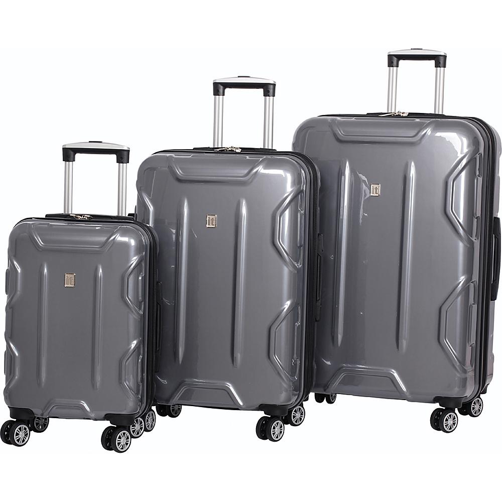 it luggage Transformer Hardside 8 Wheel 3 Piece Set Dark Grey - it luggage Luggage Sets