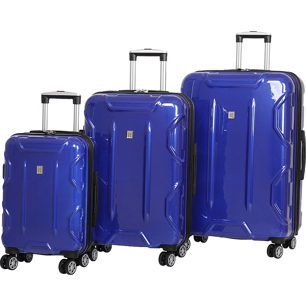 it luggage Transformer Hardside 8 Wheel 3 Piece Set Blue - it luggage Luggage Sets