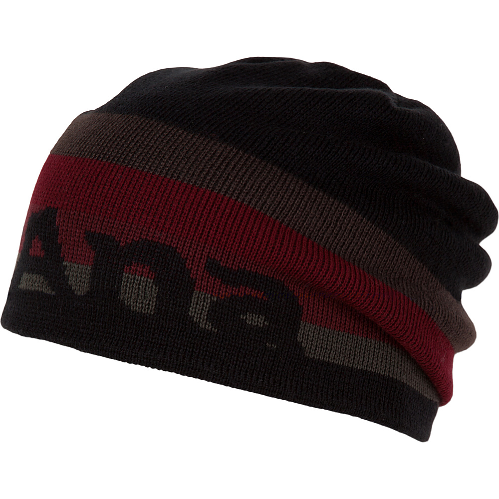 PrAna Logo Beanie One Size - Black - PrAna Hats/Gloves/Scarves - Fashion Accessories, Hats/Gloves/Scarves