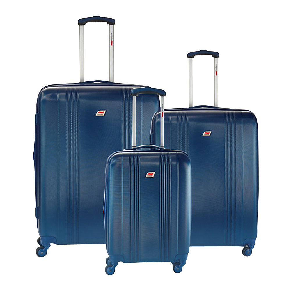 Andare Monte Carlo 8 Wheel Spinner Upright 3 Piece Luggage Set Denim Andare Luggage Sets