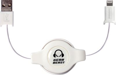 Gear Beast Retractable iPhone Cable White - Gear Beast Electronic Accessories