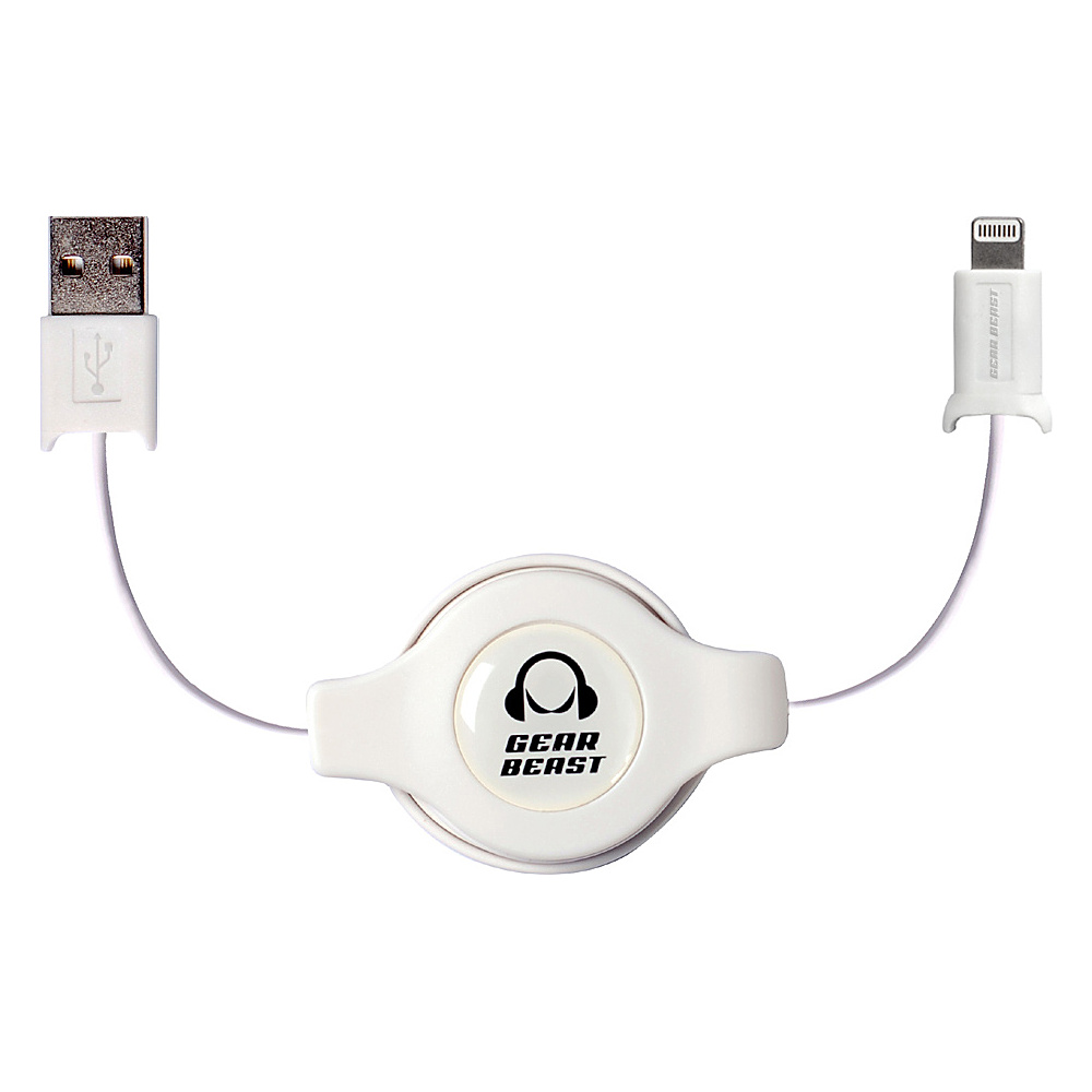 Gear Beast Retractable iPhone Cable White Gear Beast Electronic Accessories
