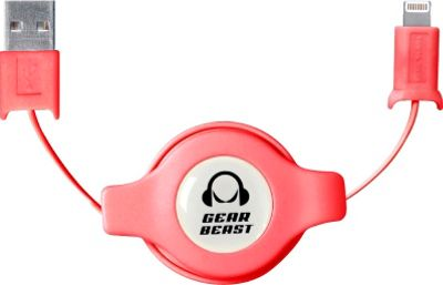 Gear Beast Retractable iPhone Cable Pink - Gear Beast Electronic Accessories