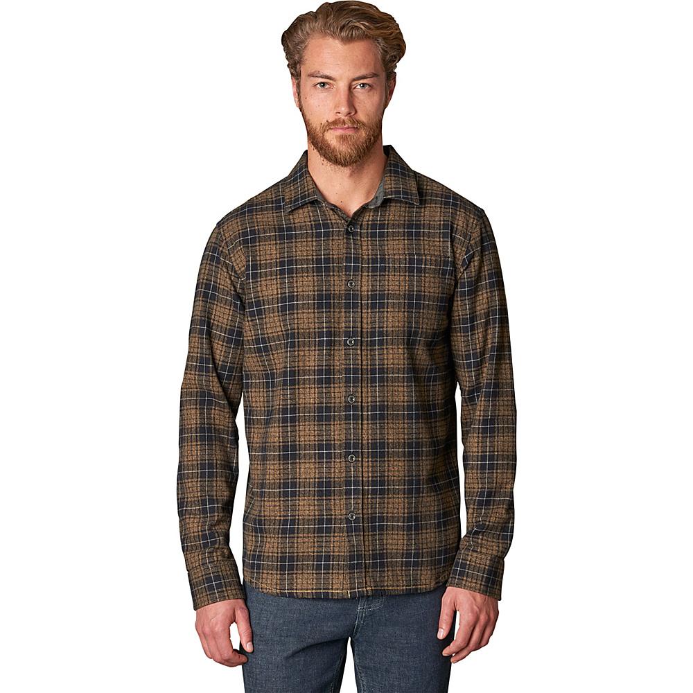 PrAna Woodman Shirt L - Desert Khaki - PrAna Mens Apparel - Apparel & Footwear, Men's Apparel