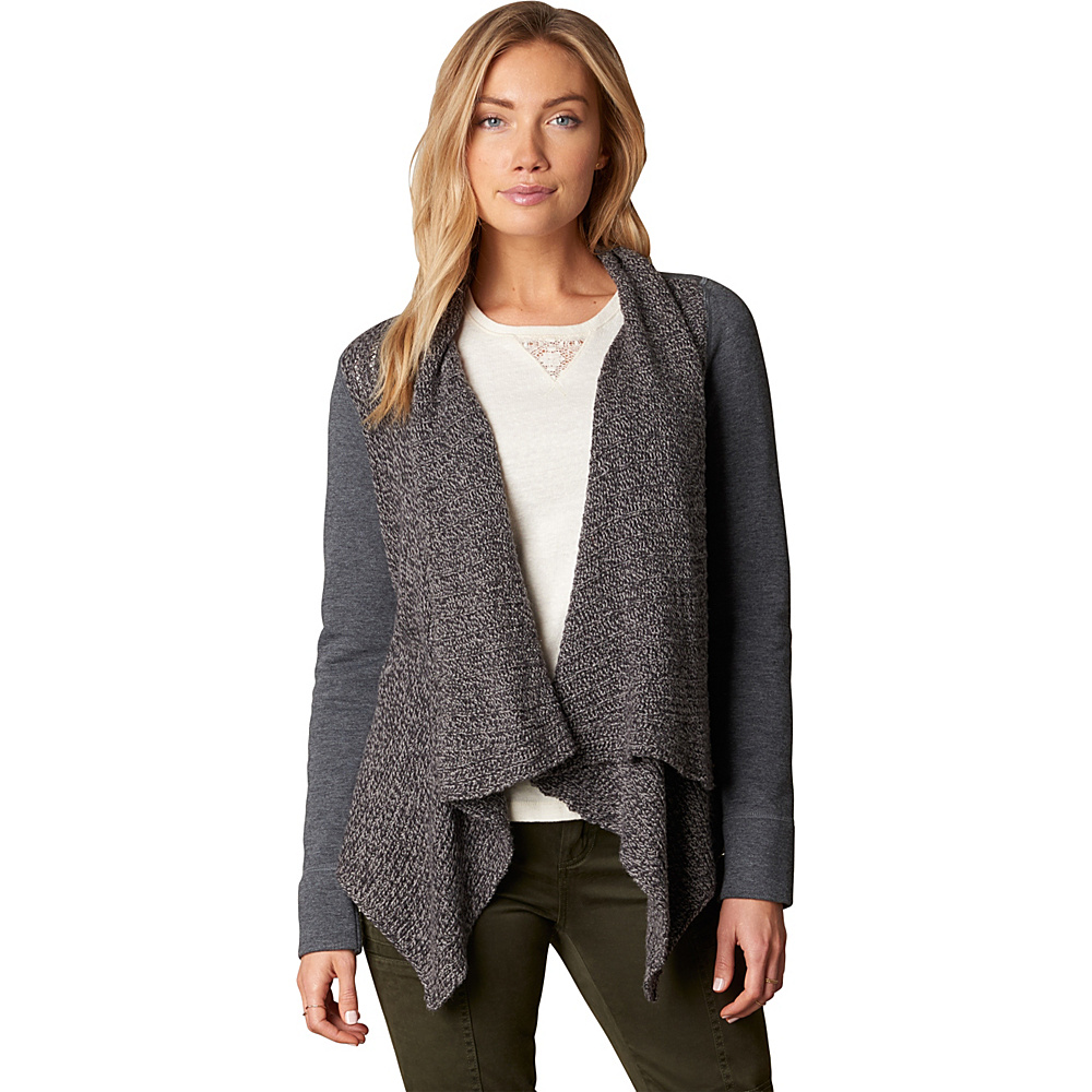 PrAna Demure Cardigan M - Charcoal - PrAna Womens Apparel - Apparel & Footwear, Women's Apparel
