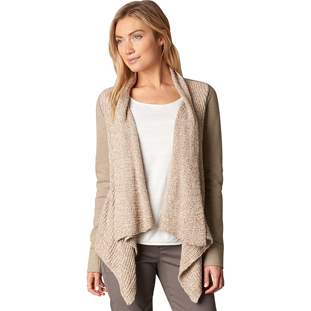 PrAna Demure Cardigan L - Dark Khaki - PrAna Womens Apparel - Apparel & Footwear, Women's Apparel