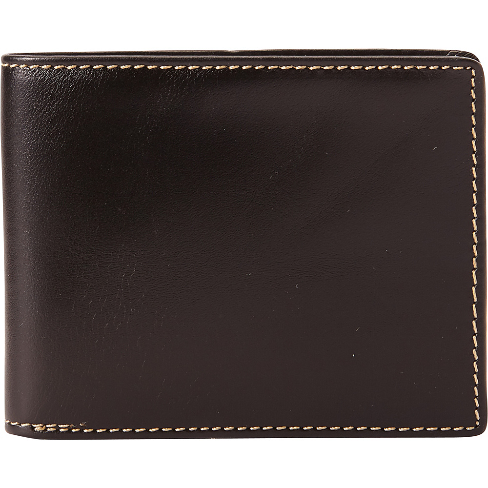 Vagabond Traveler Full Grain Leather Cowhide Classic Wallet Black - Vagabond Traveler Mens Wallets - Work Bags & Briefcases, Men's Wallets