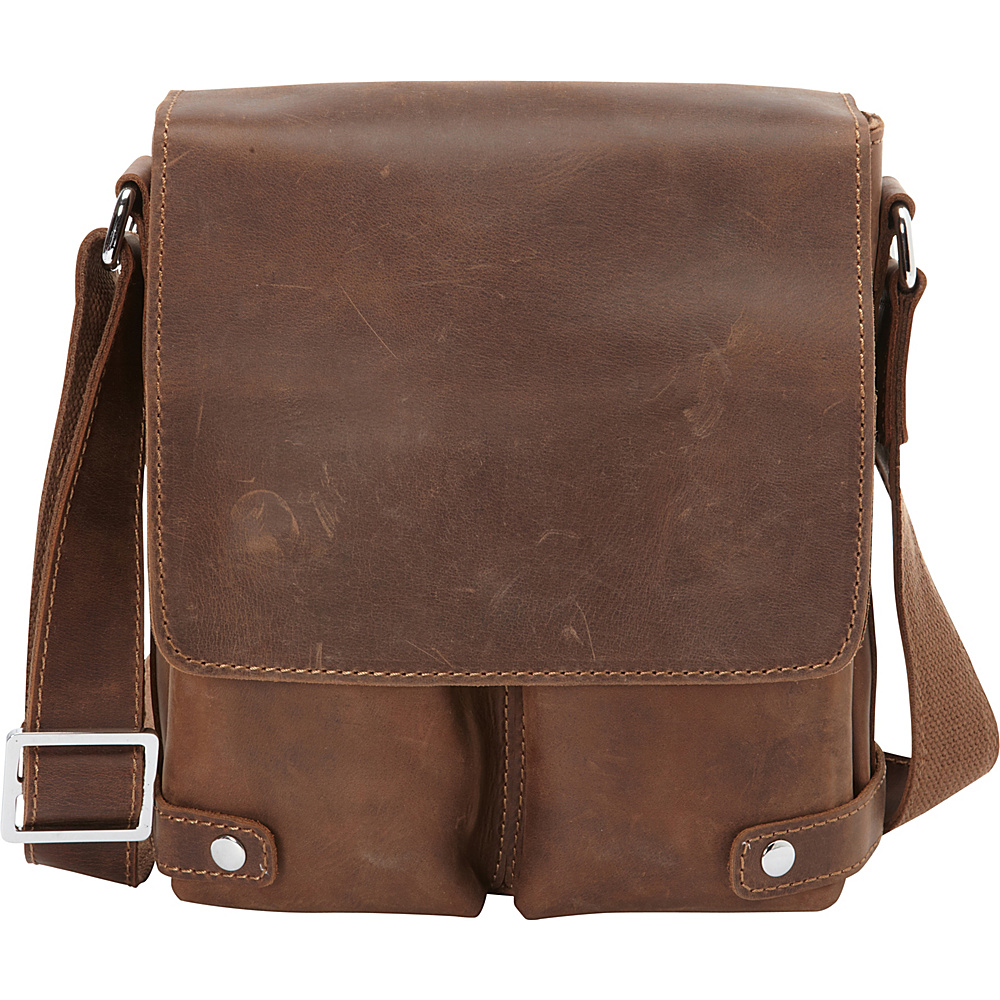 Vagabond Traveler Full Grain Leather Messenger Bag Vintage Brown - Vagabond Traveler Other Mens Bags - Work Bags & Briefcases, Other Men's Bags