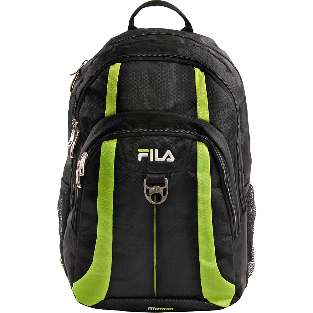 Fila Edge Tablet and Laptop Backpack Black Grey Fila Business Laptop Backpacks