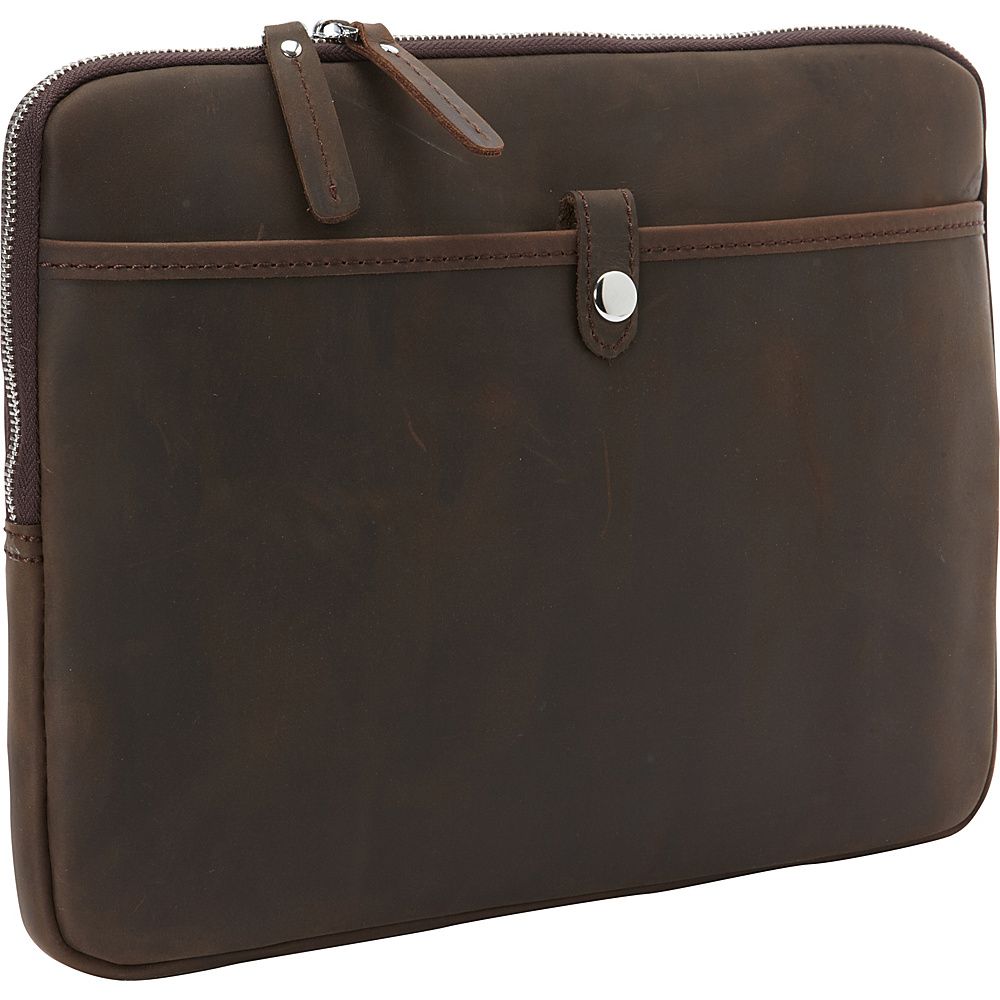 Vagabond Traveler 13 MacBook Pro Full Grain Leather Sleeve Dark Brown - Vagabond Traveler Electronic Cases - Technology, Electronic Cases
