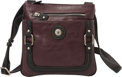 Mouflon Original RFID Generation Crossbody Wine/Black - Mouflon Original Manmade Handbags