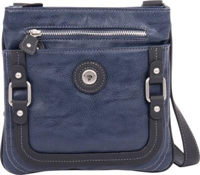 Mouflon Original RFID Generation Crossbody Navy/Black - Mouflon Original Manmade Handbags