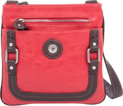 Mouflon Original RFID Generation Crossbody Red/Brown - Mouflon Original Manmade Handbags