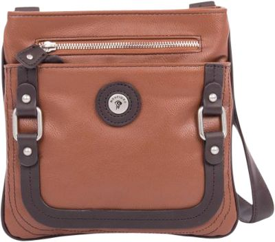 Mouflon Original RFID Generation Crossbody Tan/Dark Brown - Mouflon Original Manmade Handbags