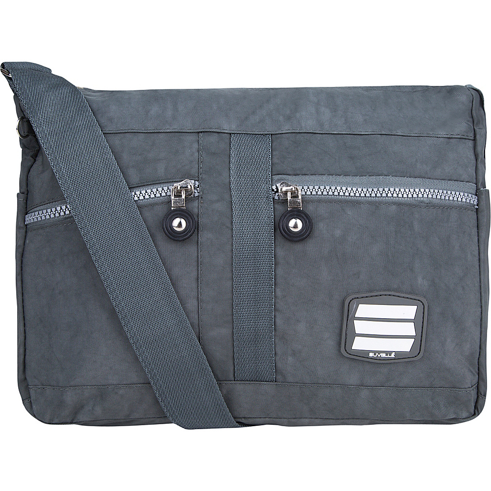 Suvelle Lunch Travel Everyday Shoulder Bag Grey Suvelle Fabric Handbags