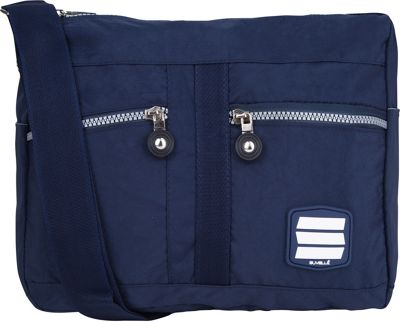 Suvelle Lunch Travel Everyday Shoulder Bag Navy - Suvelle Fabric Handbags