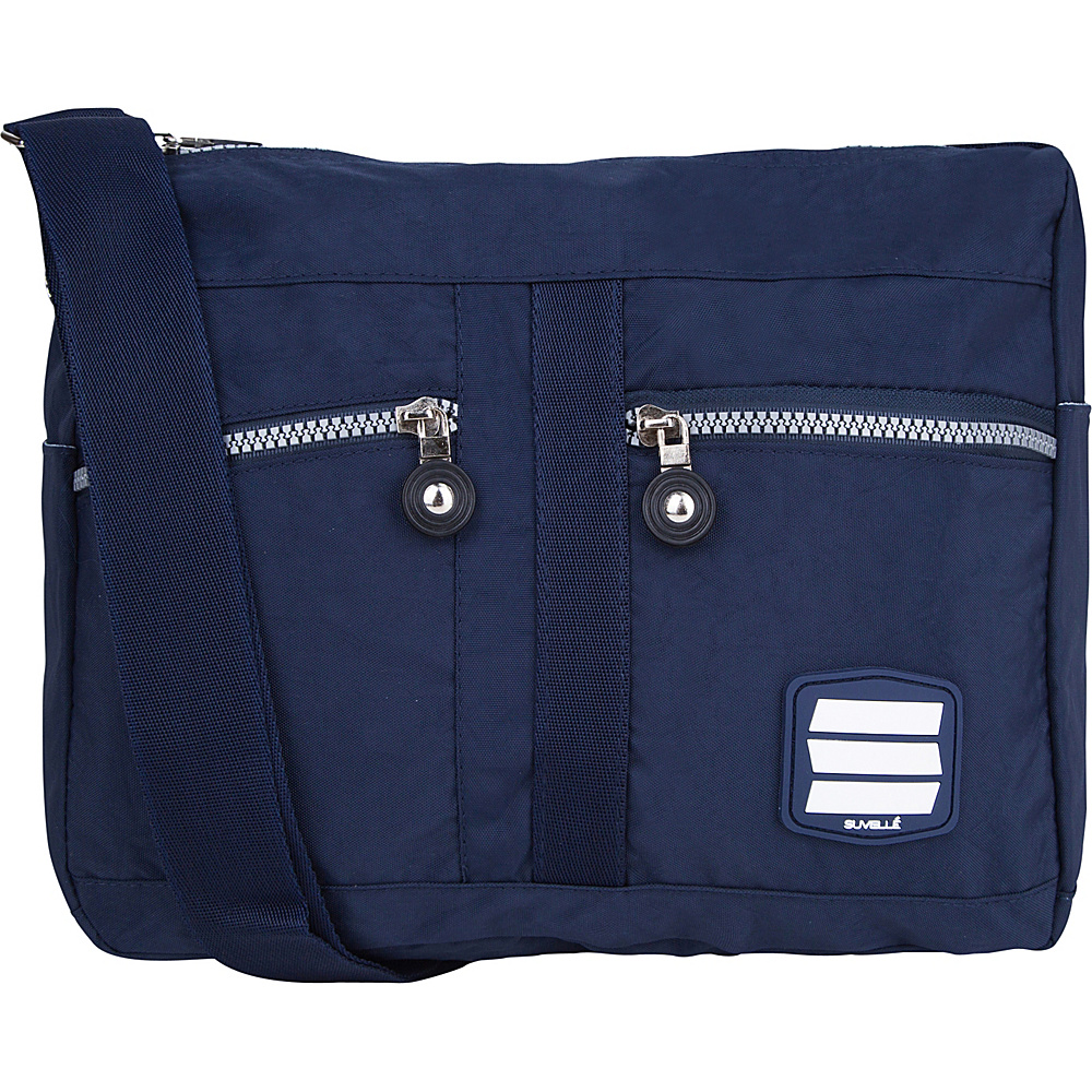 Suvelle Lunch Travel Everyday Shoulder Bag Navy Suvelle Fabric Handbags