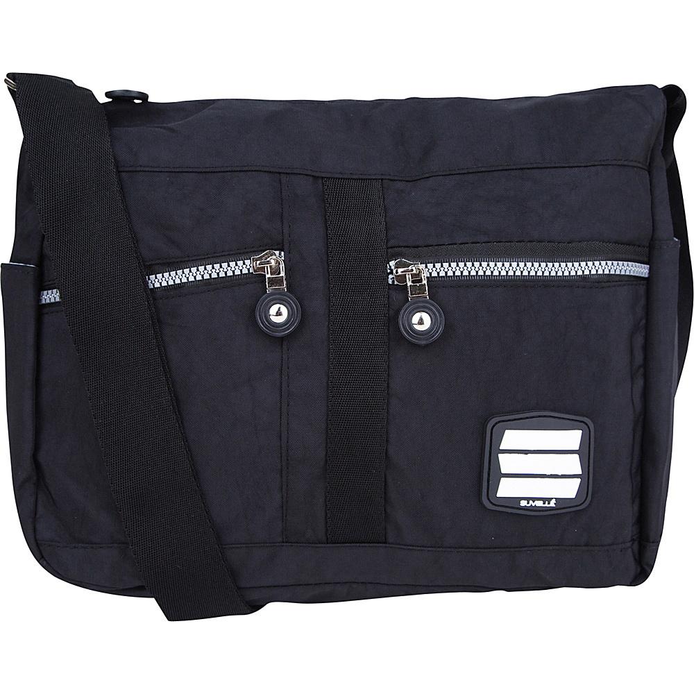 Suvelle Lunch Travel Everyday Shoulder Bag Black Suvelle Fabric Handbags
