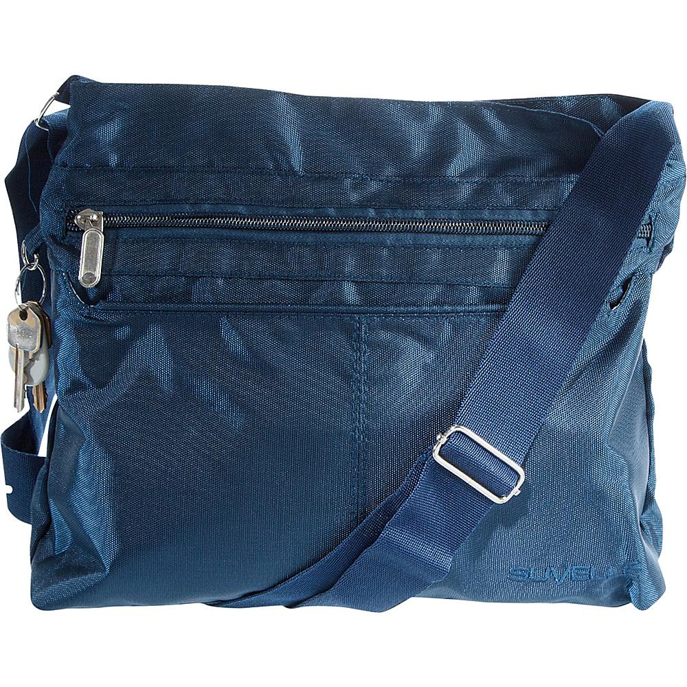 Suvelle Classic Travel Everyday Crossbody Bag Navy Suvelle Fabric Handbags