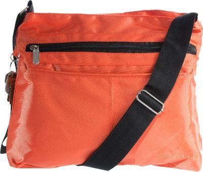 Suvelle Classic Travel Everyday Crossbody Bag Orange - Suvelle Fabric Handbags