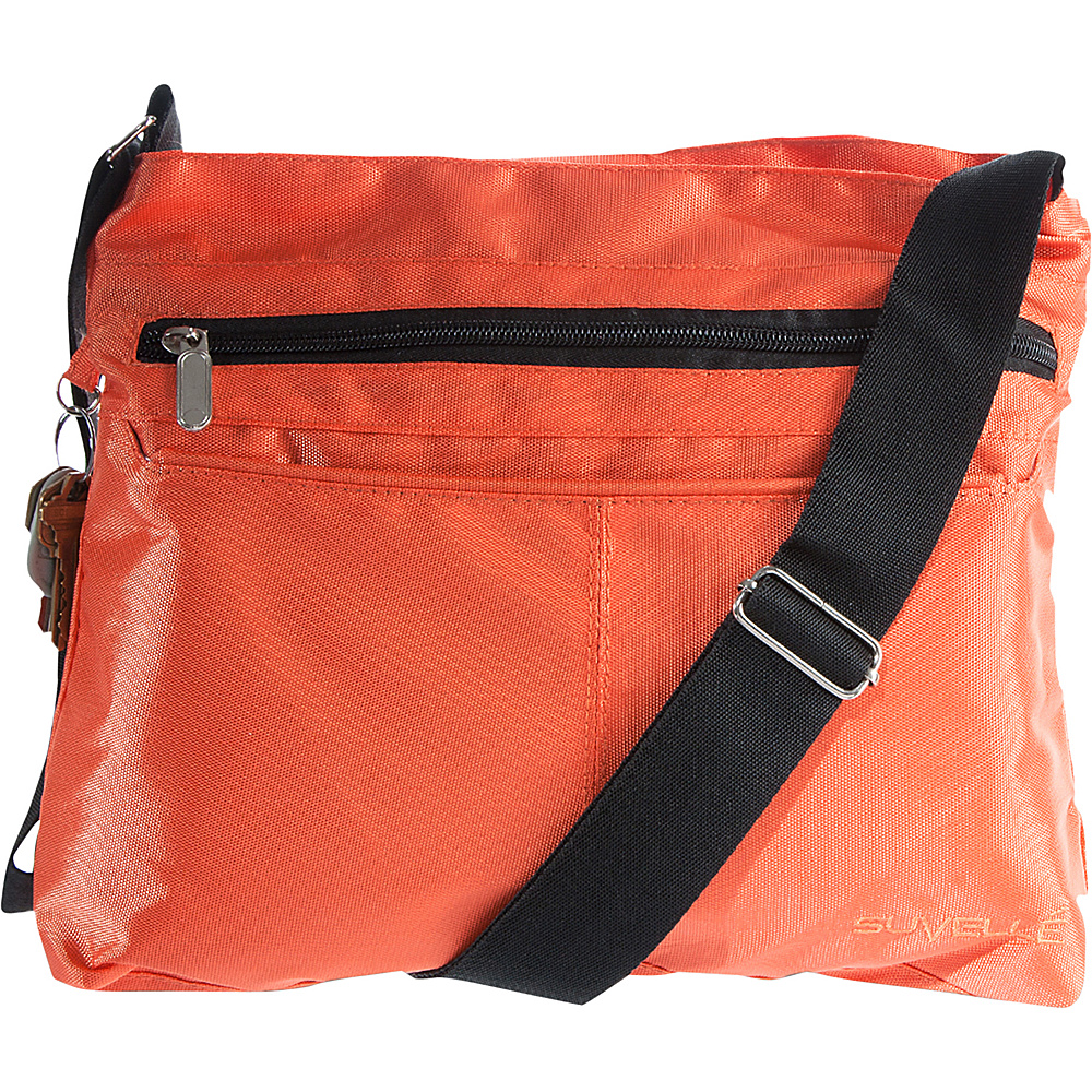 Suvelle Classic Travel Everyday Crossbody Bag Orange Suvelle Fabric Handbags