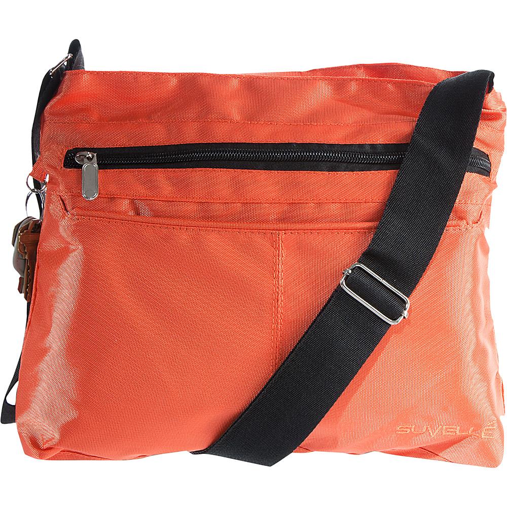 Suvelle Classic Travel Everyday Crossbody Bag Orange Suvelle Fabric Handbags