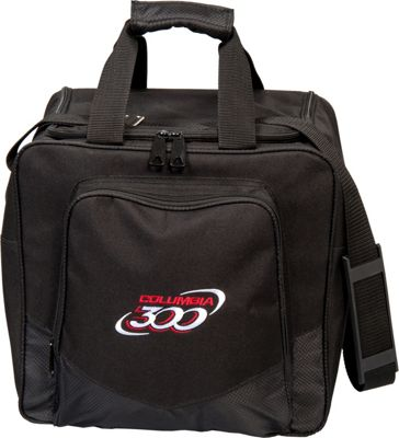 Columbia 300 Bags White Dot Single Tote Black - Columbia 300 Bags Bowling Bags