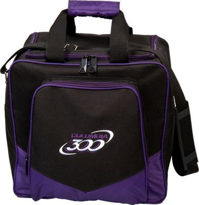 Columbia 300 Bags White Dot Single Tote Purple - Columbia 300 Bags Bowling Bags