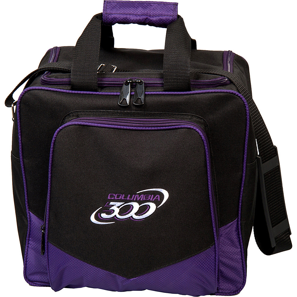 Columbia 300 Bags White Dot Single Tote Purple Columbia 300 Bags Bowling Bags