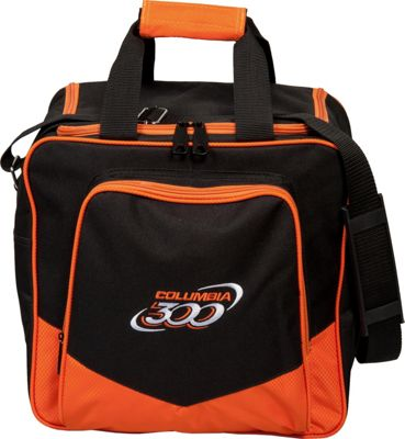Columbia 300 Bags White Dot Single Tote Orange - Columbia 300 Bags Bowling Bags
