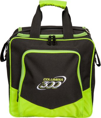 Columbia 300 Bags White Dot Single Tote Lime - Columbia 300 Bags Bowling Bags