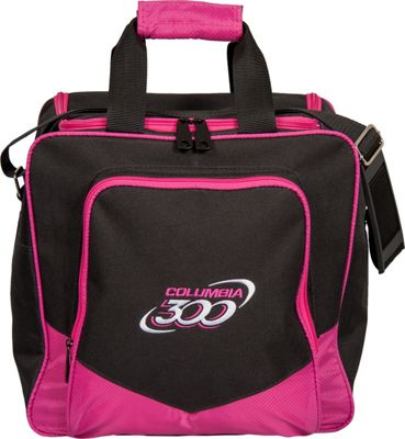 Columbia 300 Bags White Dot Single Tote Pink - Columbia 300 Bags Bowling Bags