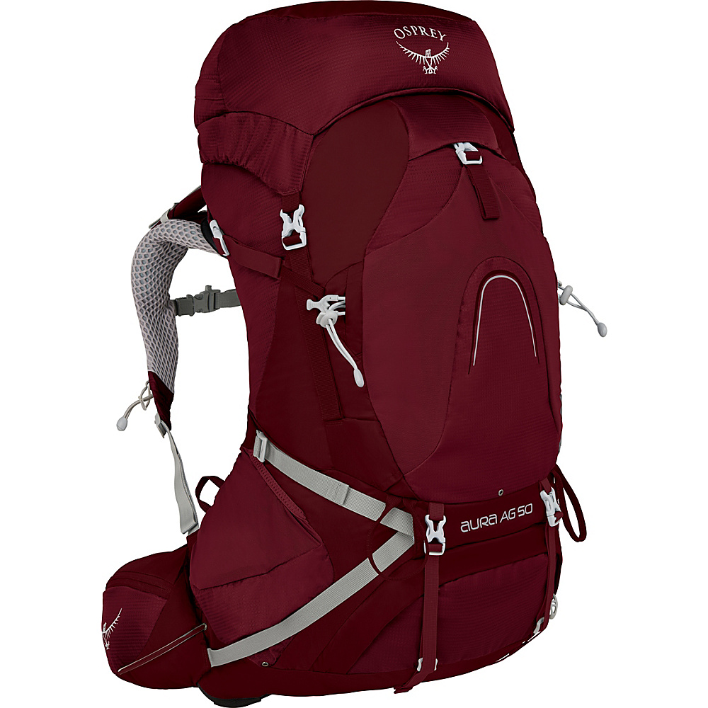 Osprey Aura AG 50 Backpack Gamma Red – SM - Osprey Backpacking Packs - Outdoor, Backpacking Packs