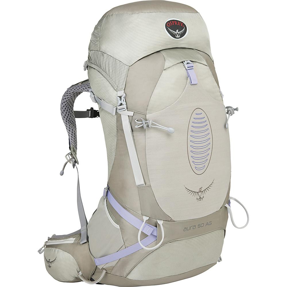 Osprey Aura AG 50 Backpack Silver Streak - MD - Osprey Backpacking Packs - Outdoor, Backpacking Packs