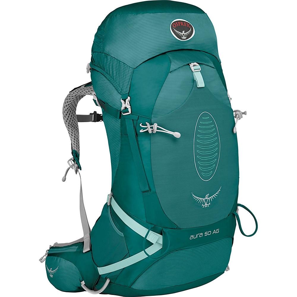 Osprey Aura AG 50 Backpack Rainforest Green - XS - Osprey Backpacking Packs - Outdoor, Backpacking Packs