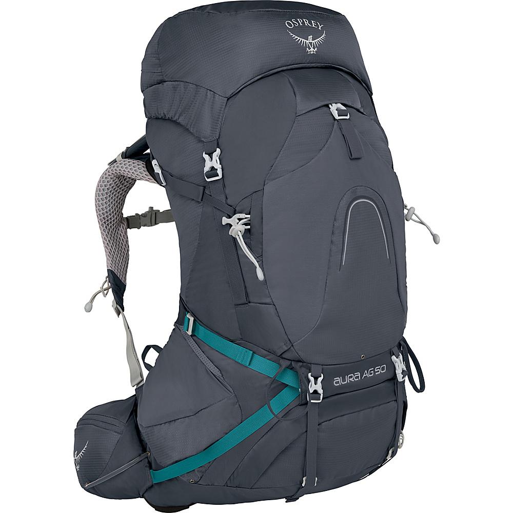 Osprey Aura AG 50 Backpack Vestal Grey – XS - Osprey Backpacking Packs - Outdoor, Backpacking Packs