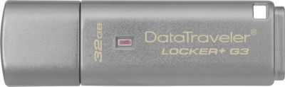 Kingston DataTraveler Locker+ G3/32GB Silver - Kingston Electronic Accessories