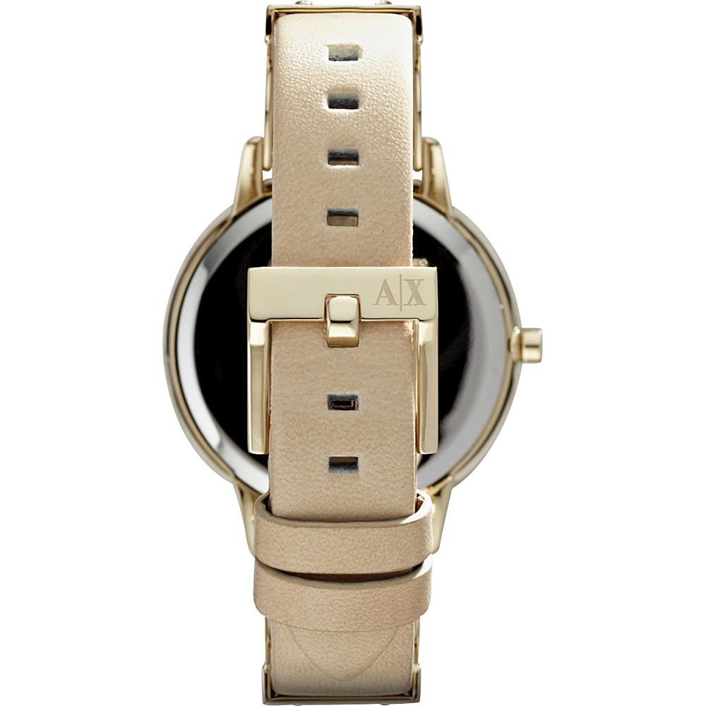 A/X Armani Exchange Womens Smart Leather Watch Beige - A/X Armani Exchange Watches