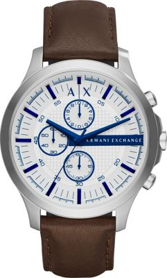 A/X Armani Exchange Smart Leather Chronograph Watch Brown - A/X Armani Exchange Watches