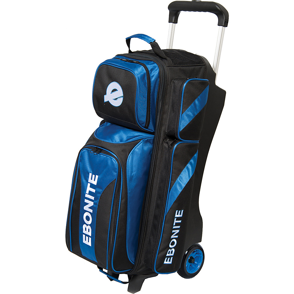 Ebonite Equinox Triple Roller Bowling Bag Blue Ebonite Bowling Bags