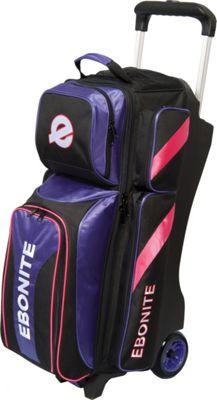 Ebonite Equinox Triple Roller Bowling Bag Purple - Ebonite Bowling Bags