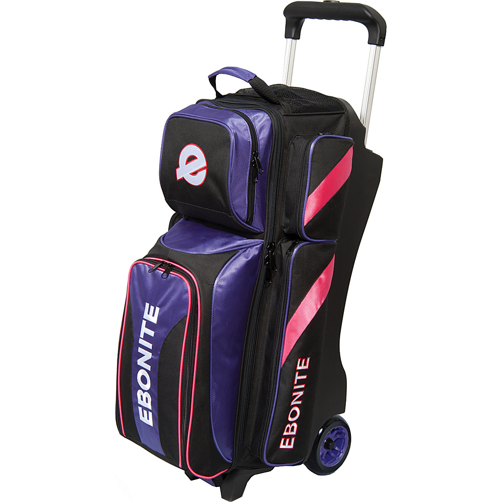 Ebonite Equinox Triple Roller Bowling Bag Purple Ebonite Bowling Bags