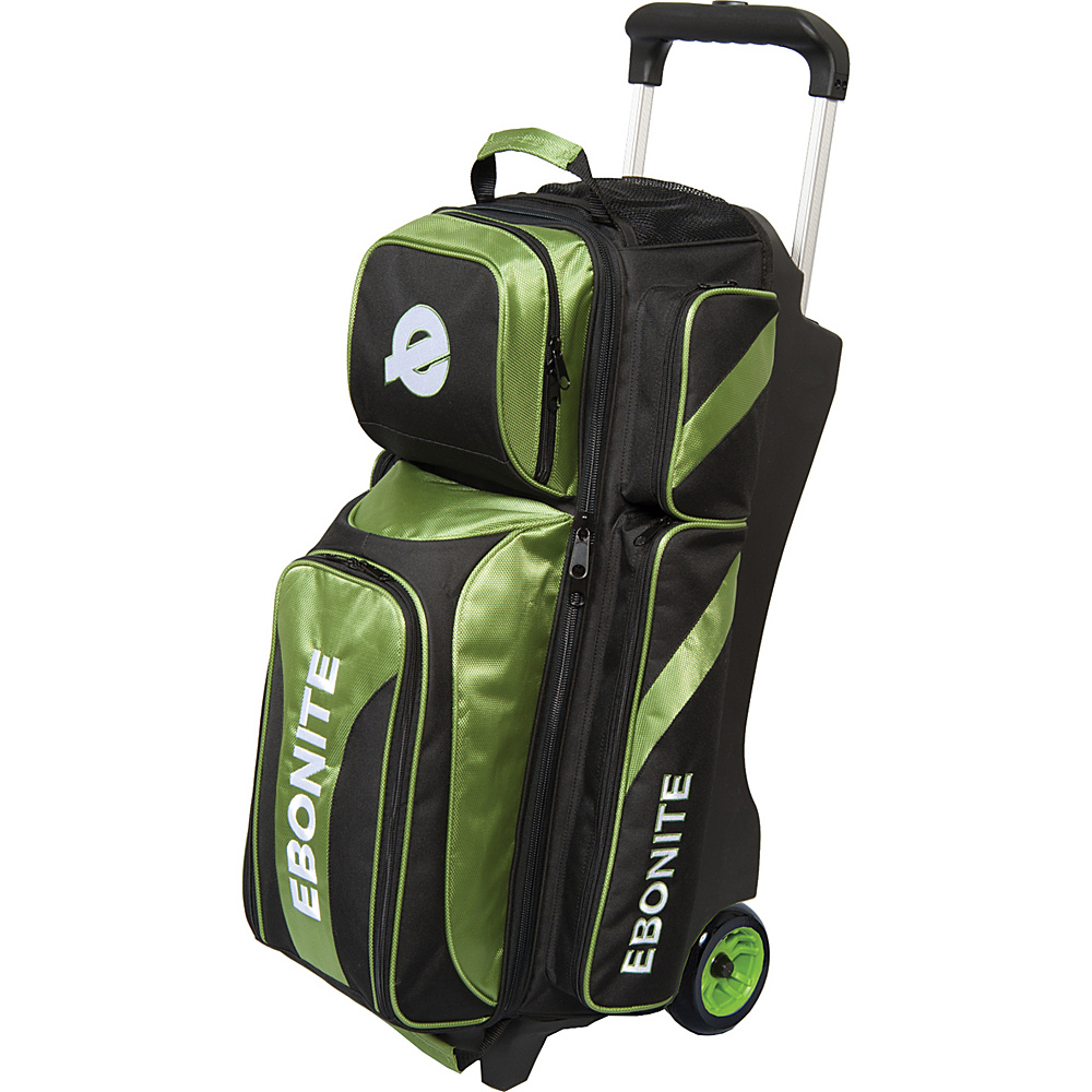 Ebonite Equinox Triple Roller Bowling Bag Lime Ebonite Bowling Bags