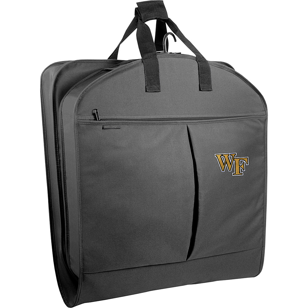 Wally Bags Wake Forest Demon Deacons 40 Suit Length Garment Bag with Pockets Grey Wally Bags Garment Bags
