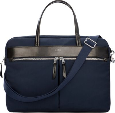 KNOMO London Mayfair Nylon Hanover Briefcase Navy - KNOMO London Women's Business Bags