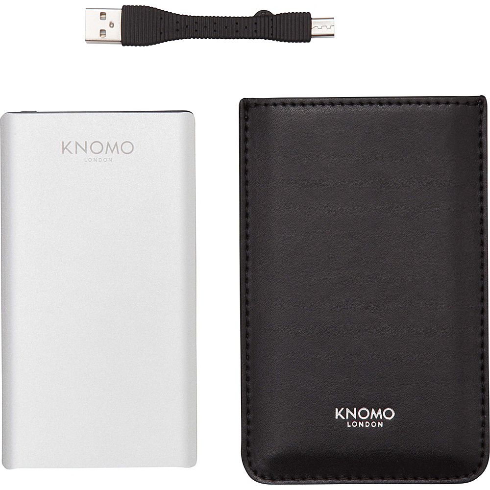 KNOMO London Portable Battery 5 000 mAh Black KNOMO London Portable Batteries Chargers