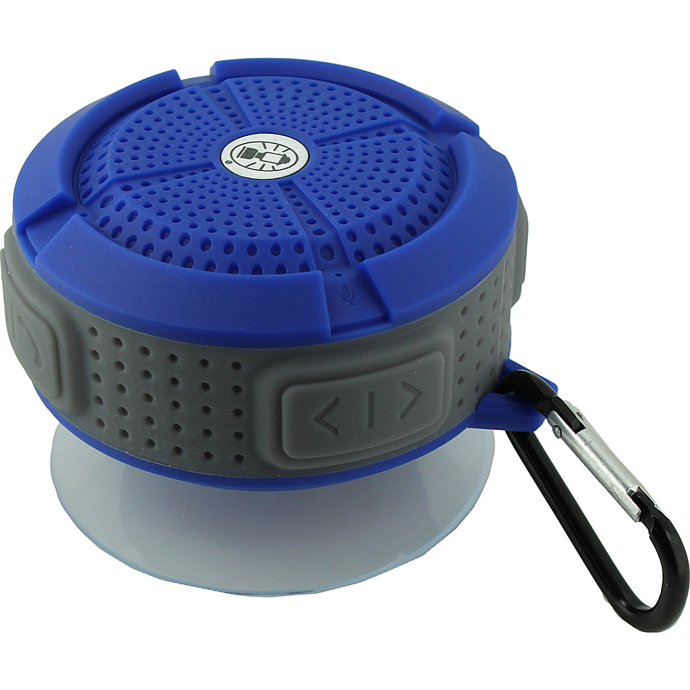 Coleman Mini Portable Water Resistant Bluetooth Speaker with Suction Cup Blue Coleman Headphones Speakers
