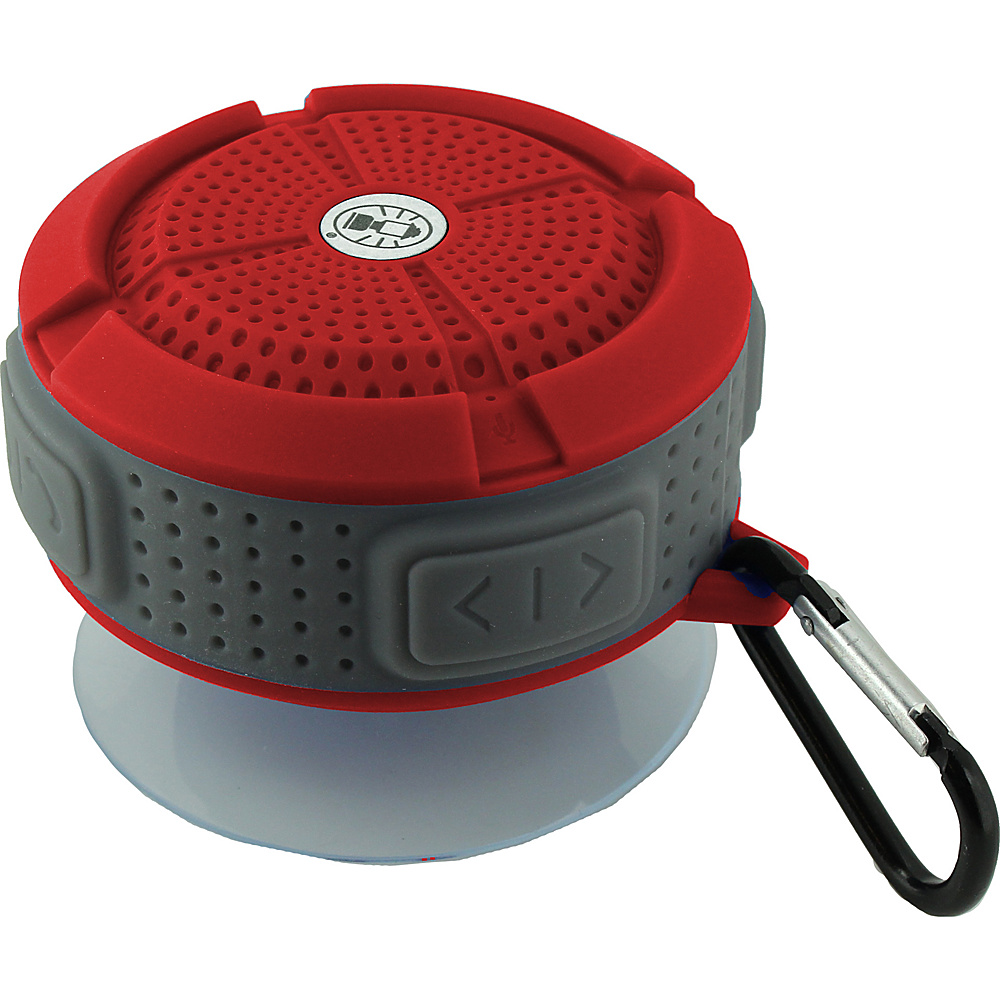 Coleman Mini Portable Water Resistant Bluetooth Speaker with Suction Cup Red Coleman Headphones Speakers