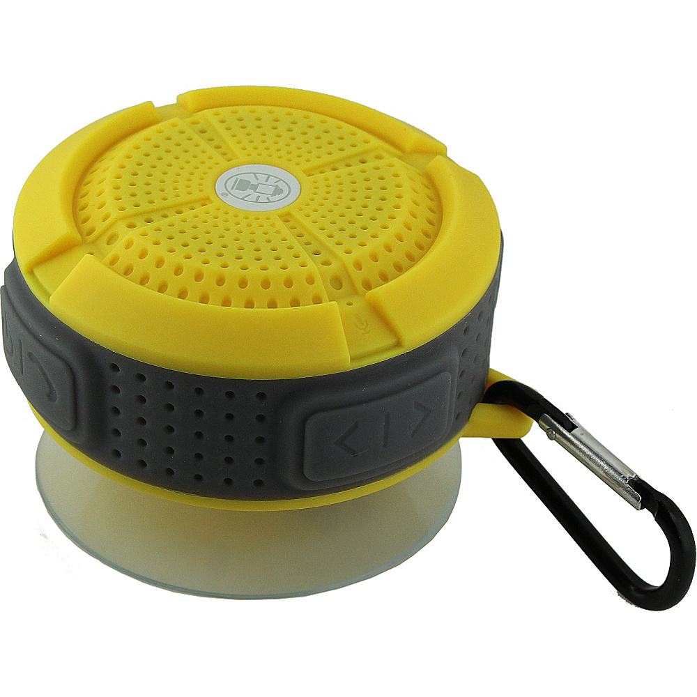 Coleman Mini Portable Water Resistant Bluetooth Speaker with Suction Cup Yellow Coleman Headphones Speakers