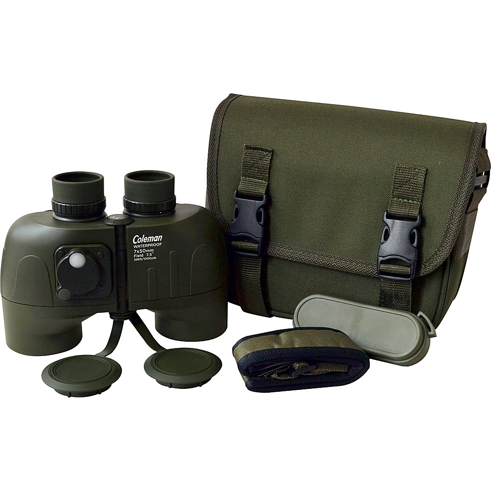 Coleman Signature 7x50 Waterproof Porro Binoculars with Illuminated Reticle Individual Eye Focusing Black Coleman Cameras